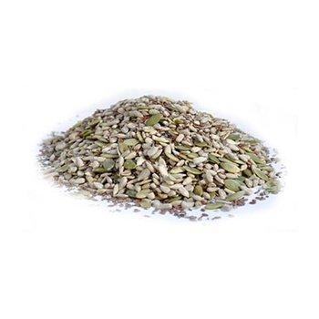 Pumpkin - Sunflower - Chia - Flax - Hemp Seed Mix By Gerbs - 4Lb. Deal. Certified Top 10 Allergen Free - Non Gmo