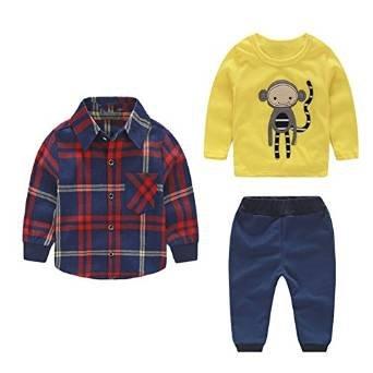 Vestito Completo Sportivo Giacchetta Quadreti + Felpa + Pantaloni Sportivo , Vestitino Completino per Bambini Bimbi Elegante Costumi Abiti Coordinati Autuno Inverno