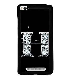 Alphabet H 2D Hard Polycarbonate Designer Back Case Cover for Xiaomi Mi 4i :: Xiaomi Redmi Mi 4i