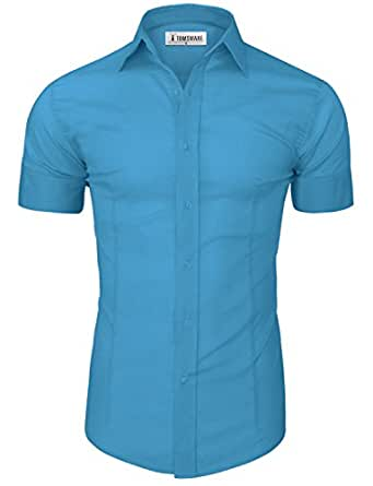 Image unavailable image not available for color sorry this for Mens casual short sleeve button down shirts