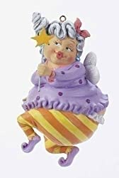 "4"" Funny Over the Hill Happy Birthday Fairy Christmas Ornament #23366"