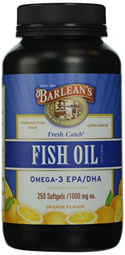 Barlean's Organic Oils Fresh Catch Fish Oil, Omega-3,  Orange Flavor,  250-Softgels / 1000 mg each (Fresh Omega compare prices)