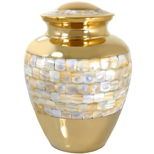 Cremation Urn: Mother of Pearl Adult Full Size (Urns Full Size compare prices)