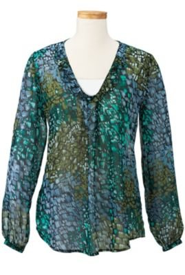 Click to buy TravelSmith Womens Seville Tunic Emerald Combo from Amazon!