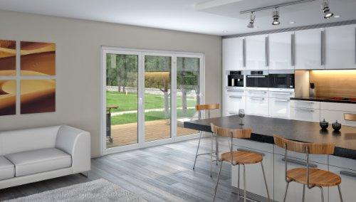 Upvc bi folding door 2400 x 2100 premium quality.