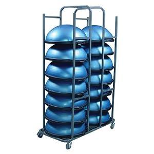 BOSU Balance Trainer Rack Steel, 49 1/2 X 25 X 76-Inch