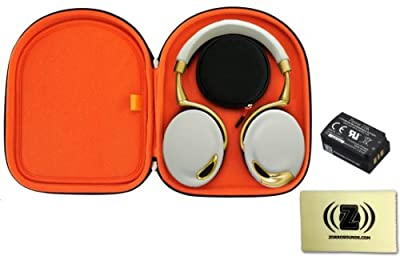 Parrot Zik Wireless Noise Cancelling Headphones with Touch Control (Yellow/Gold) Bundle with Parrot Zik Headphone Case, Parrot Zik Battery and Custom Design Zorro Sounds Cleaning Cloth