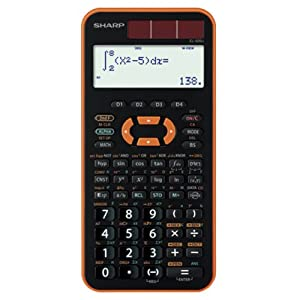 SHARP スタンダード関数電卓 ピタゴラス 384関数 オレンジ系 EL-509J-DX