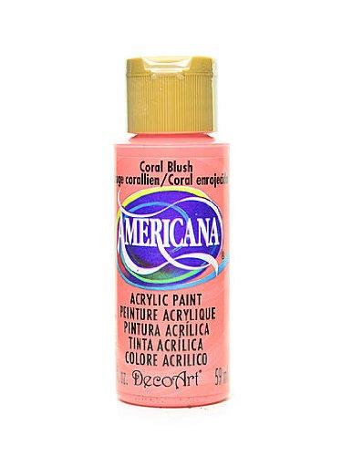 Decoart Americana Acrylic Paints Coral Blush 2 Oz. [Pack Of 8 ]