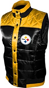 NFL Women's Pittsburgh Steelers Polar Puffer Vest at SteelerMania