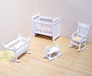 Melissa & Doug Deluxe Doll-House Nursery Furniture