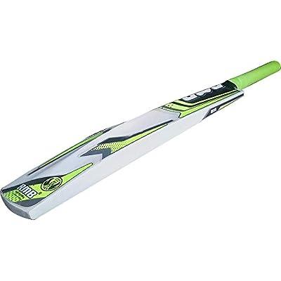 RMB Josh Popular Willow Light Cricket Bat with 3 Tennis Balls, Full Size (Lime Yellow)