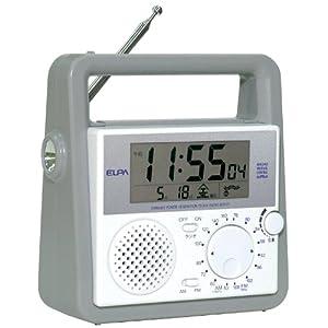 ELPA 防災クロックラジオ BCR-01