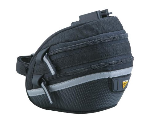 Topeak Wedge Pack II Seat Bag with F25 Fixer and Rain Cover, Medium