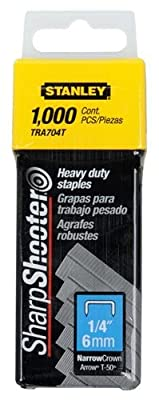 Stanley Tools TRa704T 1/4in. Heavy Duty Staples 24 Pack
