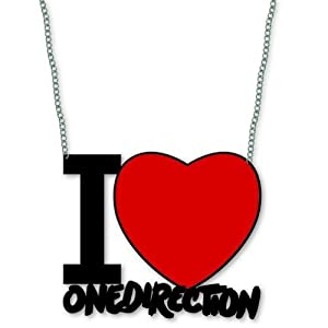 One Direction Heart Necklace - I Love One Direction from Rock Off