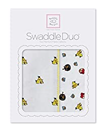 SwaddleDesigns SwaddleDuo, Angry Birds Baby Duo (Set of 2 in Yellow)