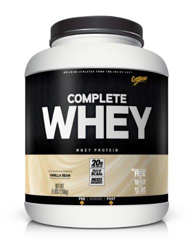 CytoSport Complete Whey Protein, Vanilla Bean, 5 Pound