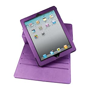 MiniSuit PU Leather Rotating Case Stand for The New iPad - Side