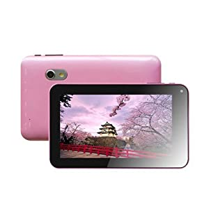 Ihomestation Pink 7 Inch Android HDMI 4.2 Dual Core Dual Camera VIA 8880 1.5GHz 512MB 4GB Wi-Fi Tablet PC ,Capacitive Touch