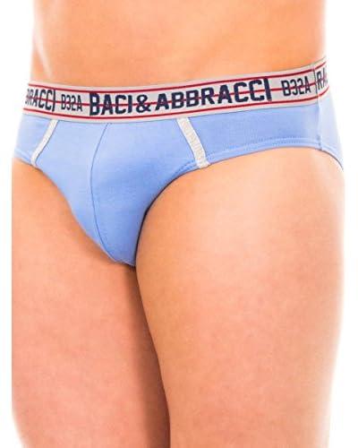 Baci & Abbracci 2tlg. Set Herrenslips hellgrau/mehrfarbig