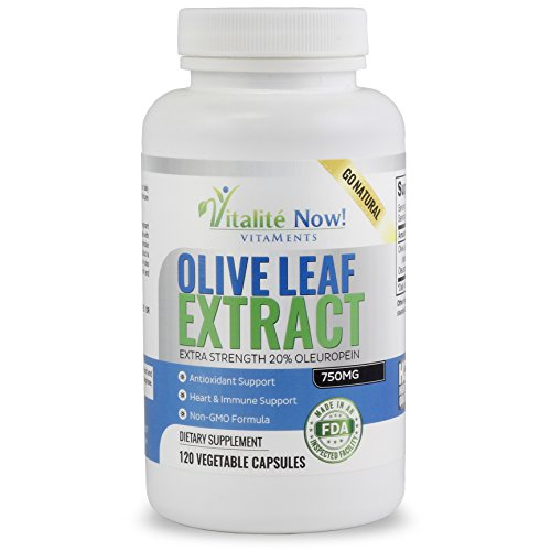 SuperStrength Olive Leaf Extract - Up to 4 Month Supply - 750mg 20% Oleuropein Capsules - Potent Antioxidant & Immune Support Supplement - 120 Count (Oil Leaf Extract compare prices)