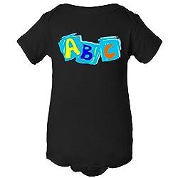 ABC Alphabet Paint Color One Piece Romper Baby Bodysuit
