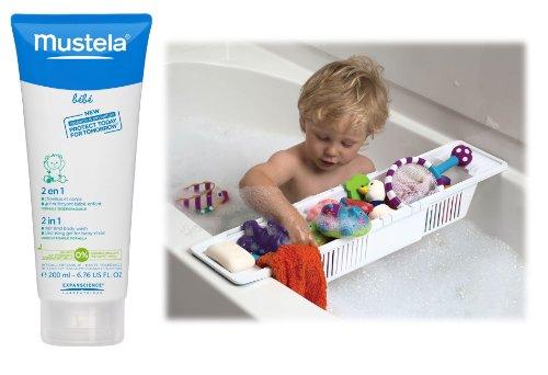 Mustela 2-In-1 Hair & Body Wash With Bath Storage Basket