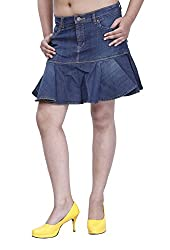 Devis Women's Skirt (SK1608_Pacific Blue_26)