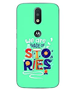 Aart Designer Luxurious Back Covers for Moto G4 Plus with Portable Moblie Ok stand by Aart Store
