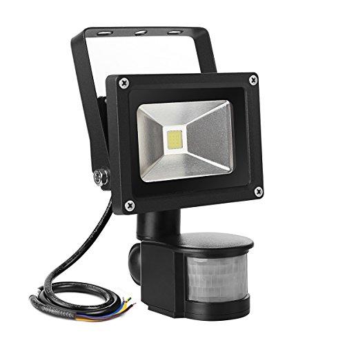 LE 10W Super Bright Motion Sensor Flood Light, Outdoor LED