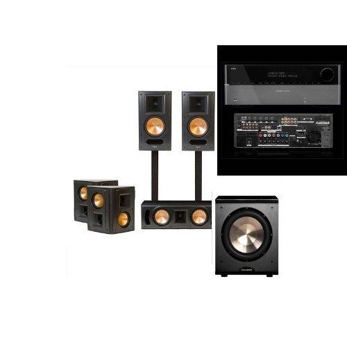 Klipsch Rb-81Ii Black Home Theater Bundle-Harman Kardon Avr-2650-Free Pl-200