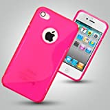 "CASE FOR IPHONE 4 / 4S - PINK ""S"" CURVE DESIGN GEL SKIN / COVER / CASE Accessories for mobile phones by Oliviasphonesby OLIVIASPHONES"