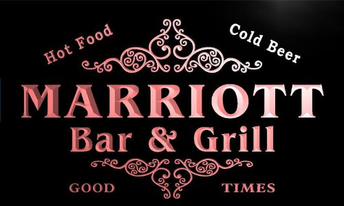 u28546-r-marriott-family-name-bar-grill-home-beer-food-neon-sign-enseigne-lumineuse