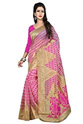 Sanju Dashing Pink Art Silk Traditional Wear Saree for Women