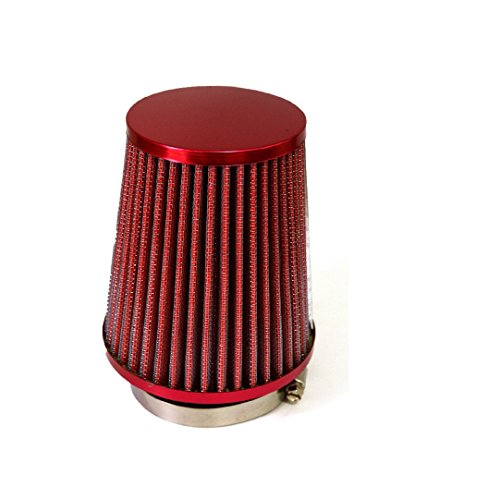 Farmunion 3Inch 76mm Car Air Filter Clean Intake High Flow Short (Red)