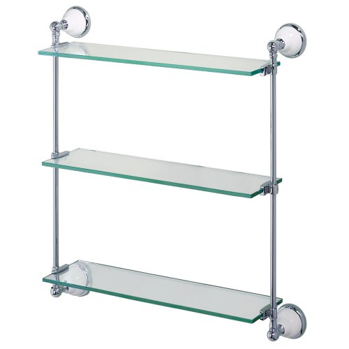 Gatco 1395 Franciscan Premier Glass Shelf, Chrome