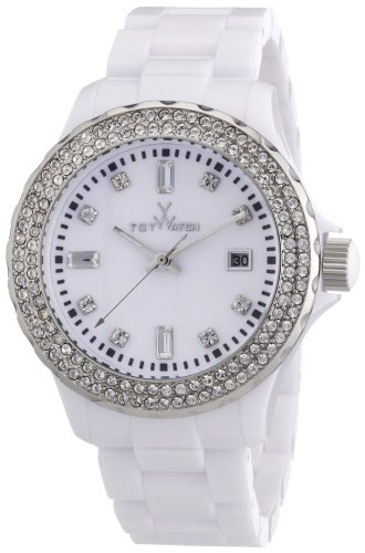 Toy Watch Womens PCLS22WH Quartz White Dial Plastic Watch