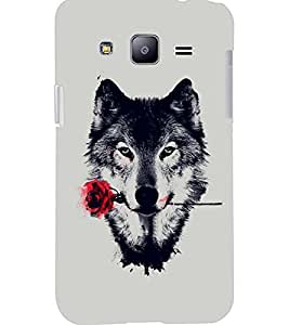 PrintDhaba ROSE DOG D-6786 Back Case Cover for SAMSUNG GALAXY J2 (Multi-Coloured)