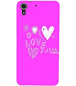 PrintDhaba Love D-4411 Back Case Cover for HTC DESIRE 728 (Multi-Coloured)