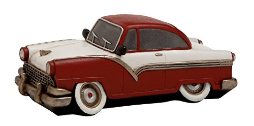 Benzara Maroon Polished Fantastic Polystone Car Piggy Bank - 1