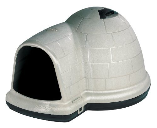 Petmate Indigo Dog House with Microban, Large Taupe Top, Black Bottom