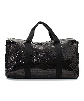 Large Black Sequin Shoulder Bag 38