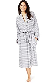 Per Una Cotton Rich Striped Towelling Dressing Gown