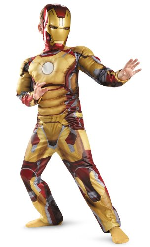 Marvel Iron Man 3 Mark 42 Boys Classic Muscle Costume