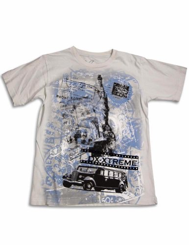 Dx-Xtreme - Big Boys Short Sleeve Statue Of Liberty T-Shirt, Light Putty 31066-12 front-222334