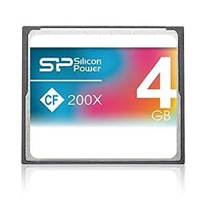 SILICONPOWER 200倍速CFカード 4GB  SP004GBCFC200V10