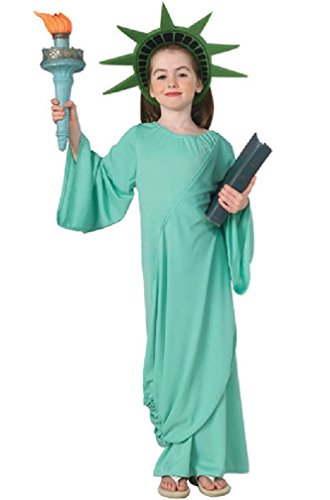 [8eighteen New York City Statue of Liberty Child Costume] (Adult Lady Liberty Plus Size Costumes)