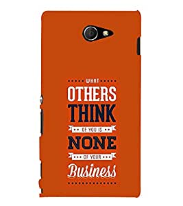 Others think None Business 3D Hard Polycarbonate Designer Back Case Cover for Sony Xperia M2 Dual D2302 :: Sony Xperia M2