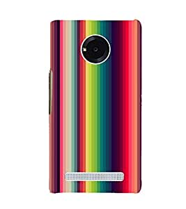 MULTICOLOURED VERTICAL LINES PATTERN 3D Hard Polycarbonate Designer Back Case Cover for YU Yunique::Micromax Yunique